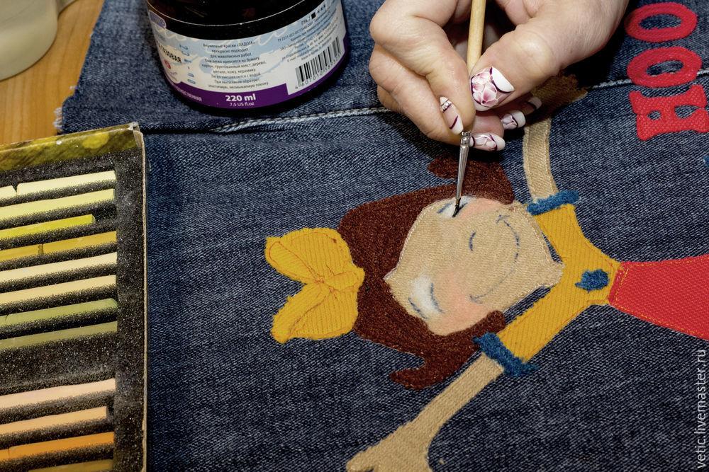 旧牛仔裤还能干什么?88:修造后的牛仔包贴花织物 - maomao - 我随心动