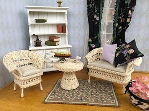 Миниатюра - плетеная кукольная мебель. Ярмарка Мастеров - ручная работа, handmade.