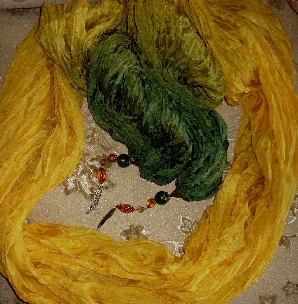 батик шарф, осень