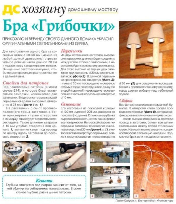 публикация в журнале, лампа из веток