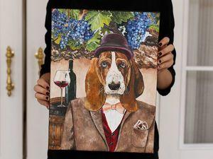 Портрет вашей собаки за 4000 рублей!. Ярмарка Мастеров - ручная работа, handmade.