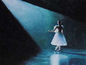 """Новая работа! Картина """"Балерина"""" (по фильму Чёрный лебедь). Ярмарка Мастеров - ручная работа, handmade."""
