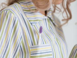 Аукцион! Хлопковая пижама в тонкую полоску! Старт 1000 руб. Ярмарка Мастеров - ручная работа, handmade.