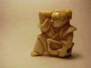 Никакой пощады! Вырезаем самурая из бивня мамонта. Ярмарка Мастеров - ручная работа, handmade.