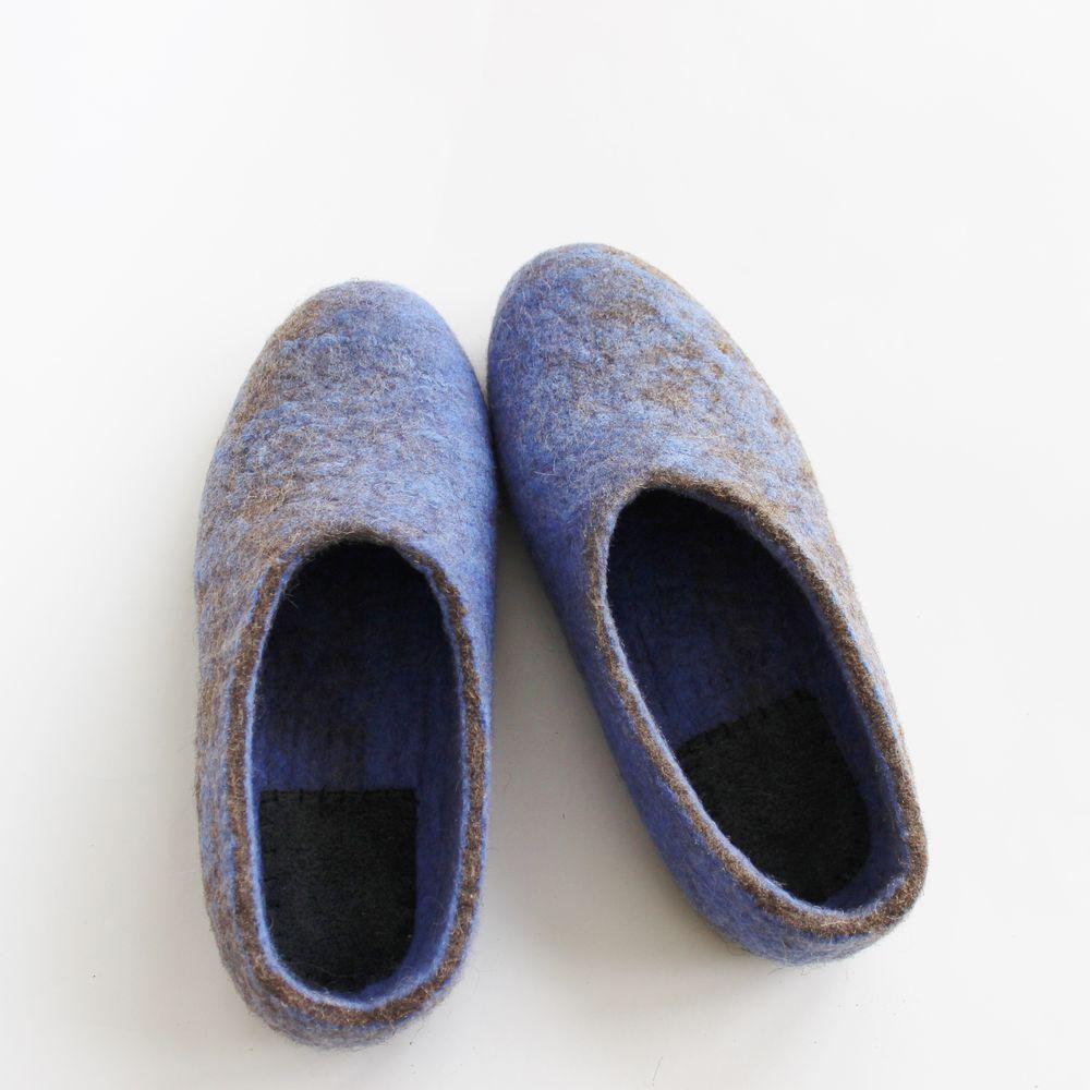 карачаевская шерсть, тапочки валяные