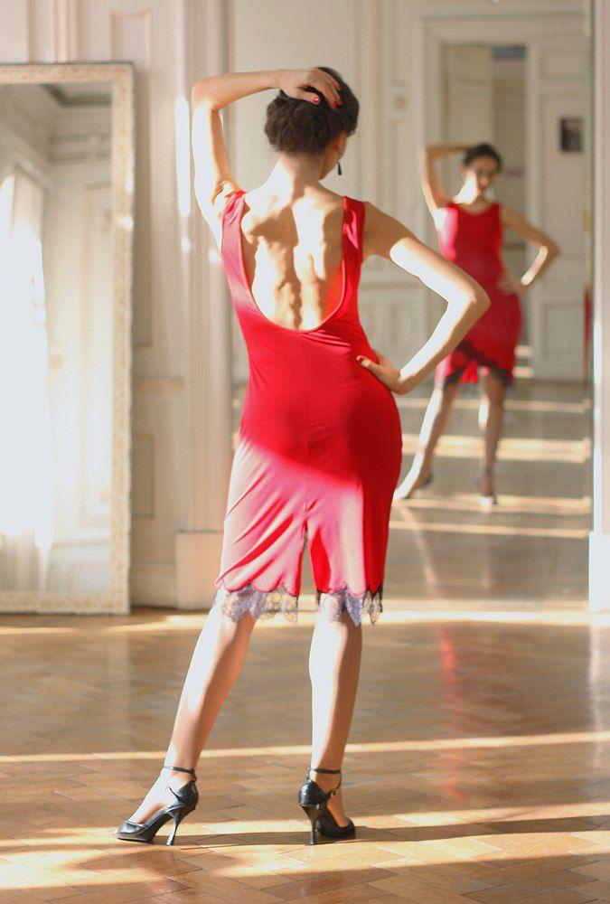 платье с открытой спиной, одежда для танго