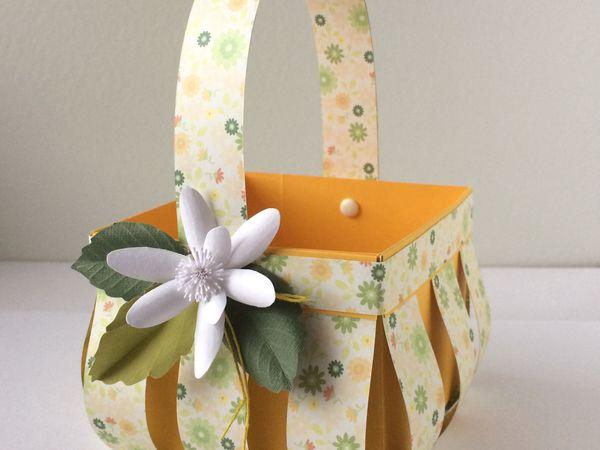 Мастерим пасхальную корзинку из бумаги | Ярмарка Мастеров - ручная работа, handmade