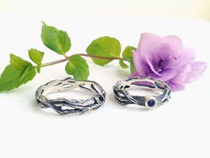 Необычные обручальные кольца из серебра ручной работы. Ярмарка Мастеров - ручная работа, handmade.