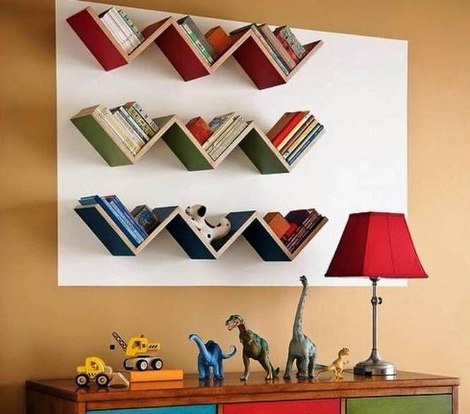 Полки для книг своими