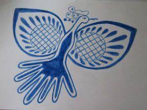 Картина Птица - счастья.. Ярмарка Мастеров - ручная работа, handmade.