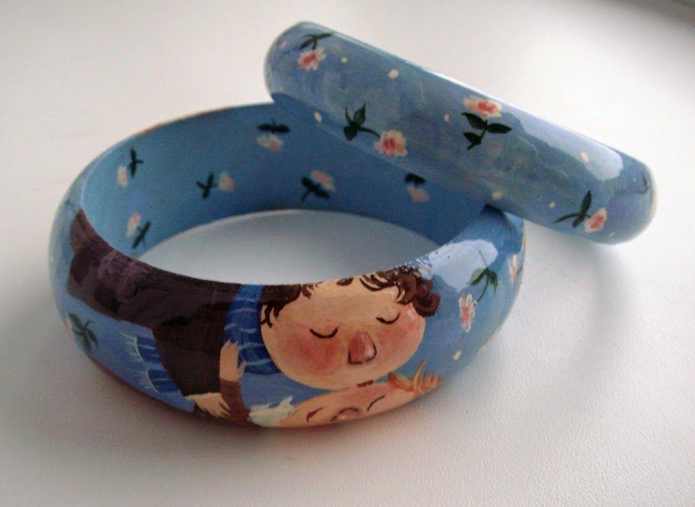 браслеты с росписью, гапчинская, жесткие браслеты