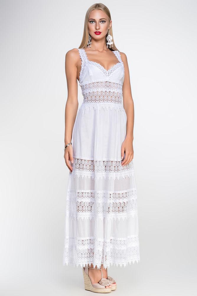 Белое бохо, или Шикарная одежда для королевы летнего пляжа, фото № 20