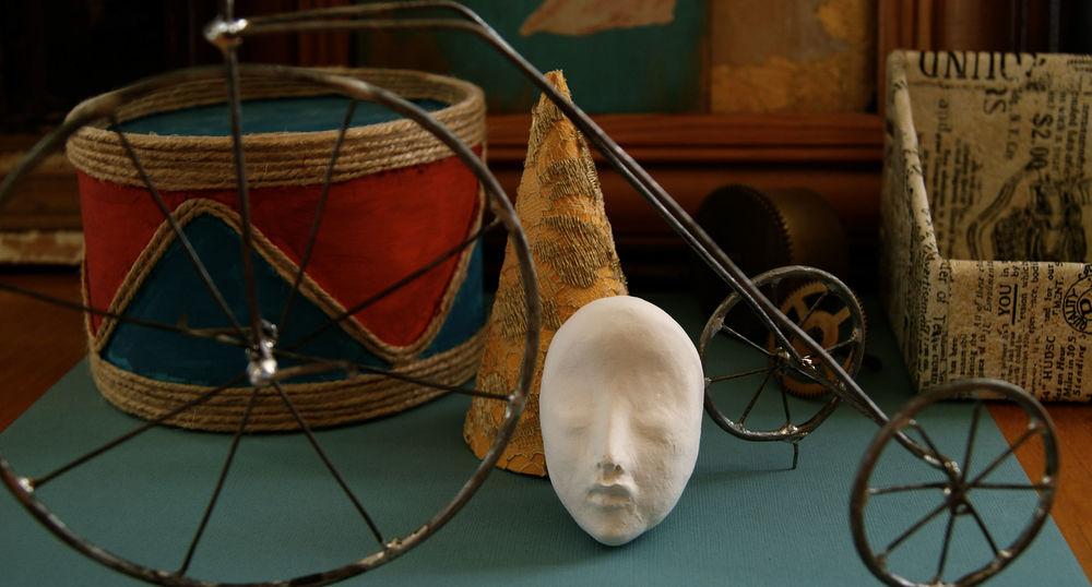 новая работа, цирк, винтажный цирк, куклы, татьяна адаменко, ангелы из саквояжа
