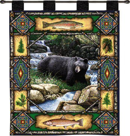 Bear Lodge Tapestry Wall Hanging