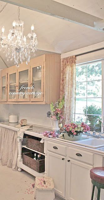 FRENCH COUNTRY COTTAGE: Antique Kitchen Cupboard