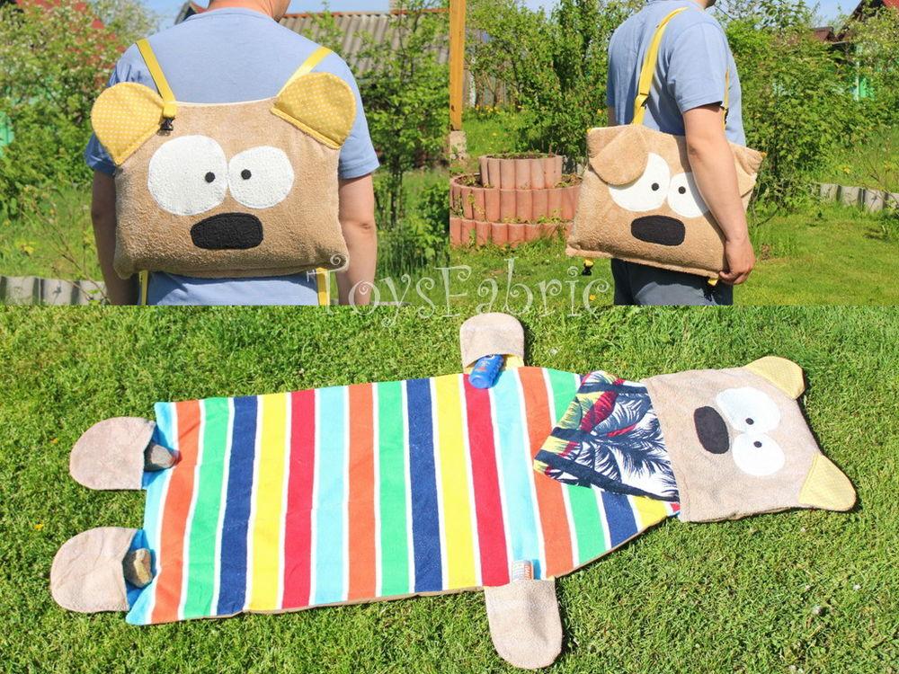 Шьем пляжную сумку-рюкзак с ковриком