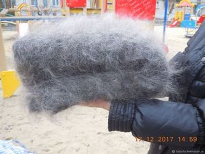 Серый толстый пуховый плед (козий пух) c очень хорошей скидкой!. Ярмарка Мастеров - ручная работа, handmade.
