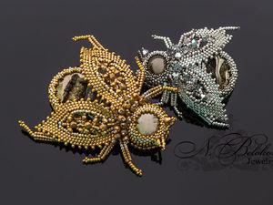 Драгоценные жуки из ювелирного бисера. Ярмарка Мастеров - ручная работа, handmade.
