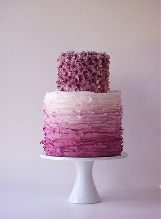lovely purple ombre cake