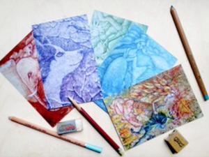 Праздничный розыгрыш набора авторских открыток Натальи Сидоровой!   Ярмарка Мастеров - ручная работа, handmade