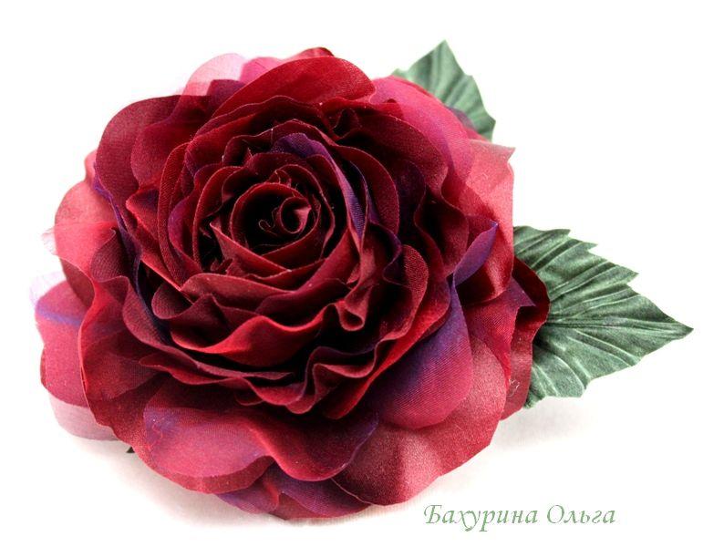 обучение цветоделию, роза из шелка