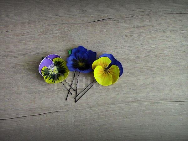 Создаем шпильки из фоамирана «Анютины глазки» | Ярмарка Мастеров - ручная работа, handmade