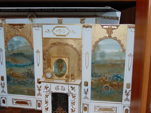 Мастерим красивый камин и настенные панели в кукольный домик   Ярмарка Мастеров - ручная работа, handmade