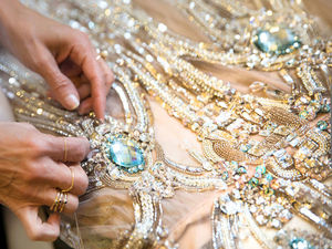 Close-up: Embroidery in Works by Elie Saab. Livemaster - handmade