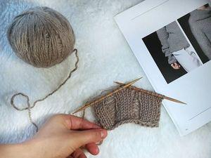 Как связать модные «дыры» спицами. Ярмарка Мастеров - ручная работа, handmade.