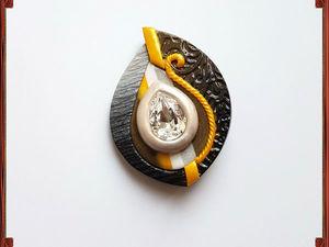 Создаем брошь из полимерной глины с кристаллом Сваровски. Ярмарка Мастеров - ручная работа, handmade.