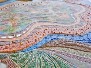Витражная картина на стекле «Пять стихий осени». Ярмарка Мастеров - ручная работа, handmade.