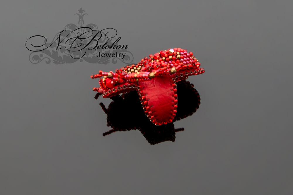 Огненный аммолитовый жучок колечко, фото № 6