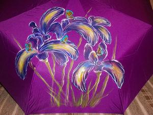 Зонты РУЧНОЙ РАБОТЫ с цветами и другими рисунками за 1490 руб! До 23.10.17. Ярмарка Мастеров - ручная работа, handmade.