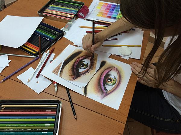 уроки рисования, курсы рисования, рисование для взрослых, цветные карандаши, цветной портрет, портрет с нуля, научиться рисовать