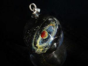Кулон шар Сатурн - Видео. Ярмарка Мастеров - ручная работа, handmade.