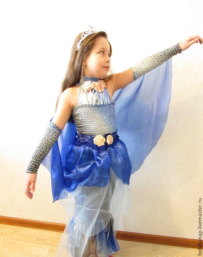 Костюм из бросовых материалов своими руками для девочек