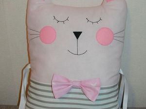 Шьем бортик в форме котика в детскую кроватку. Ярмарка Мастеров - ручная работа, handmade.