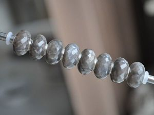 Натуральный серый лунный камень для Pandora и Trollbeads в наличии. Ярмарка Мастеров - ручная работа, handmade.