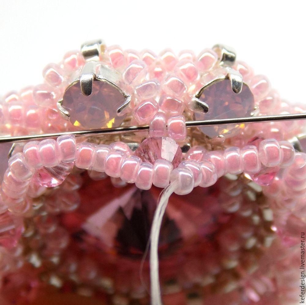Серьги ручной работы «Цветущая сакура» из кристаллов Swarovski: процесс создания, фото № 15