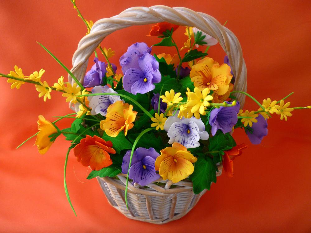 акция месяца, корзинка с цветами