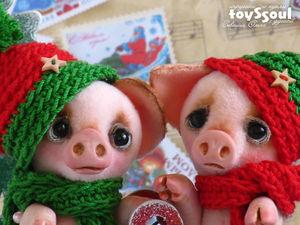 Встречайте Поросят! Готовимся к празднованию Нового Года!!!. Ярмарка Мастеров - ручная работа, handmade.