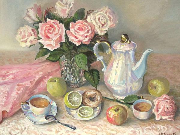 Чаепитие с подругой   Ярмарка Мастеров - ручная работа, handmade