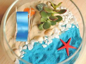 Как сделать свой собственный пляж-флорариум. Ярмарка Мастеров - ручная работа, handmade.