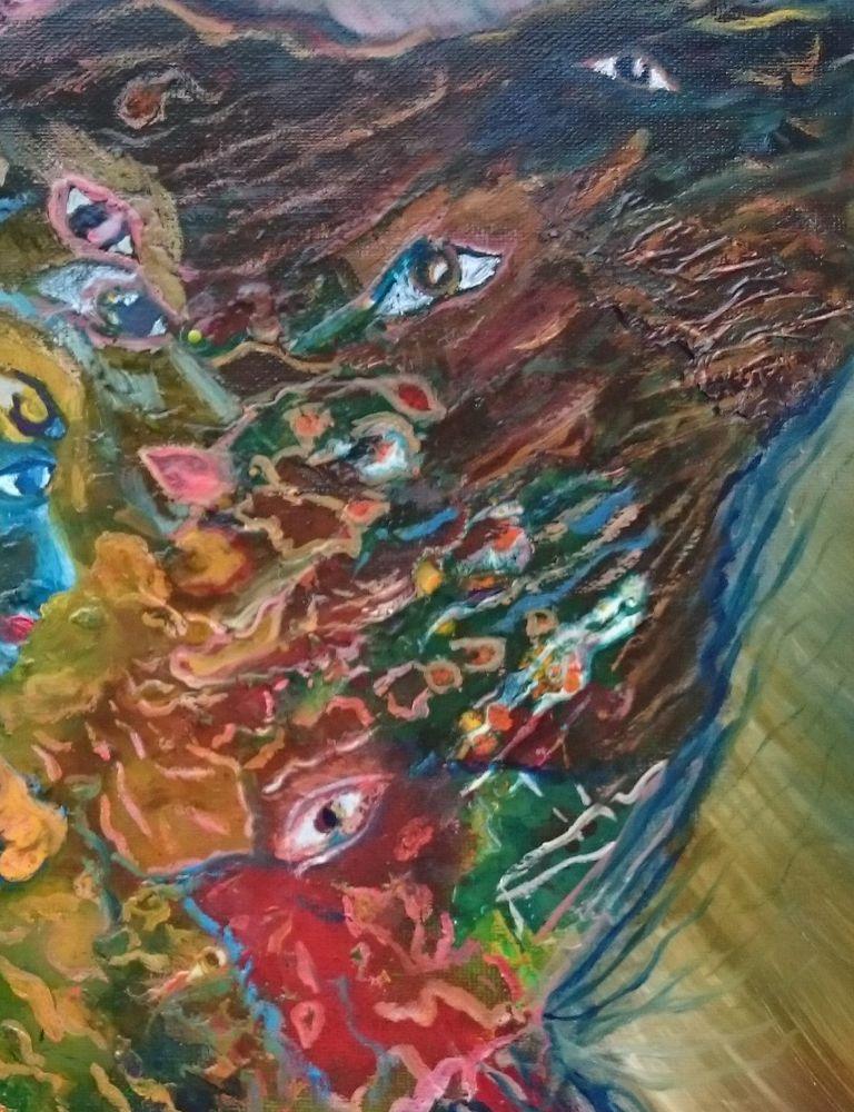 картина маслом, недорогая картина, авторская абстракция