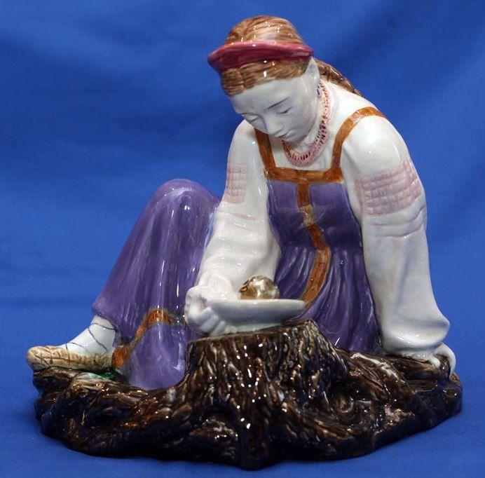 зик, фарфоровая статуэтка