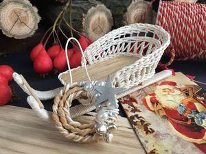 Новогодняя фотосессия плетеных саночек для кукол. Ярмарка Мастеров - ручная работа, handmade.