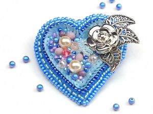 Брошь из бисера «Сердце» своими руками. Ярмарка Мастеров - ручная работа, handmade.