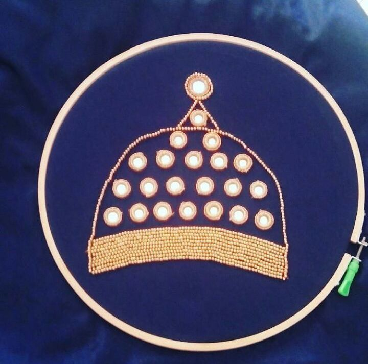 вышивка бисером, индийские украшения