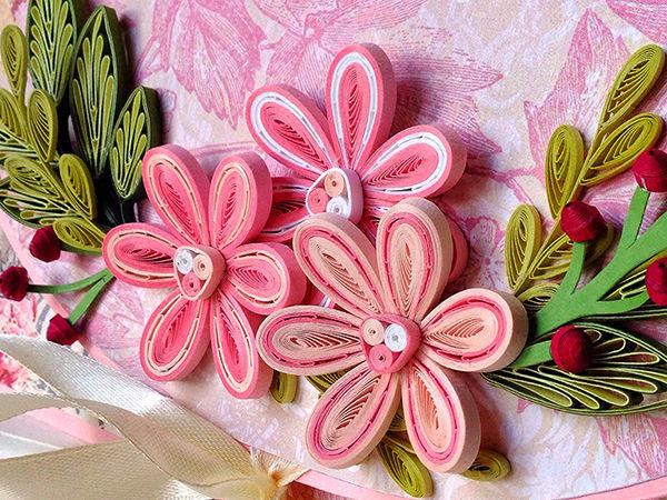 Видео мастер-класс: делаем цветы в технике квиллинг | Ярмарка Мастеров - ручная работа, handmade