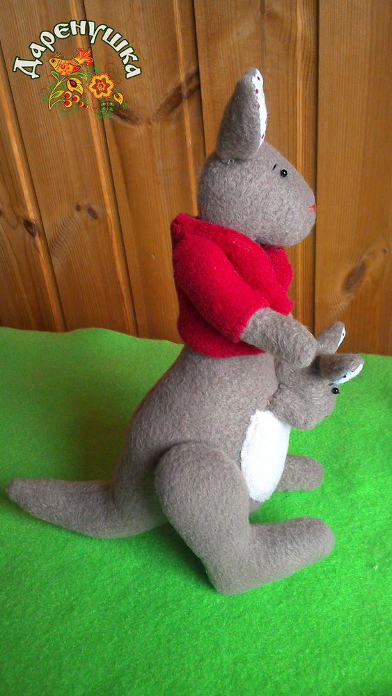 игрушка ручной работы, текстильная кукла, игрушка своими руками, тильда кенгуру, мама, интерьерная кукла, флис